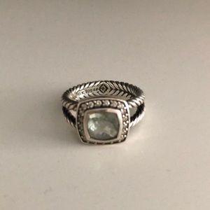 David Yurman Petite Albion Praisiolite ring size 7